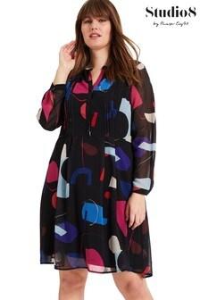 Studio 8 Black Tamara Printed Dress