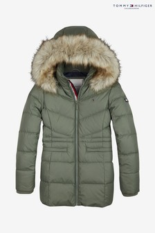 Tommy Hilfiger Green Essential Down Coat