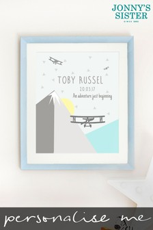 Personalised Adventure Nursery Printed Picture by Jonnys Sister
