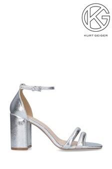Kurt Geiger London Frankie Silver Heel Sandals