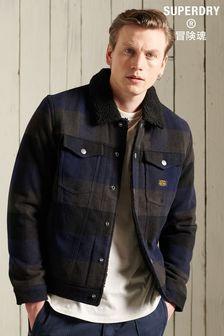 Superdry Highwayman Wool Sherpa Trucker Jacket
