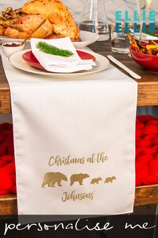 Personalised Bear Family Table Runner by Ellie Ellie