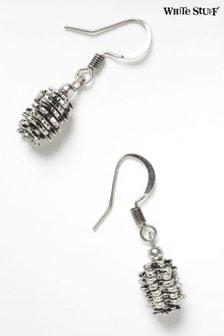 White Stuff Grey Pinecone Earrings