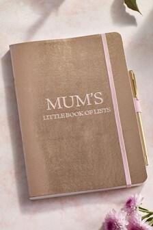 Mum's Little Book Of Lists Notebook
