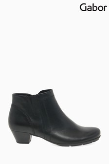 Gabor Black Heritage Womens Modern Leather Ankle Boots