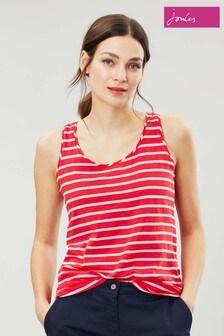 Joules Pink Bo Stripe Jersey Vest