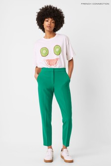 French Connection Green Boh Whisper Tailored Trousers