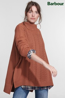 Barbour® Coastal Guernsey Textured Stitch Cape Jumper