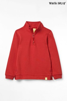 White Stuff Red Kids Freddy Funnel Sweatshirt