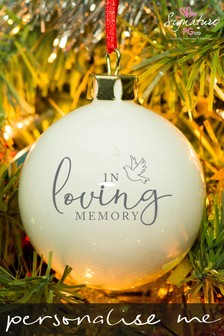 Personalised Memorial Bauble by Signature Gifts