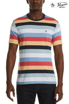 Original Penguin® Blue Multi Stripe T-Shirt