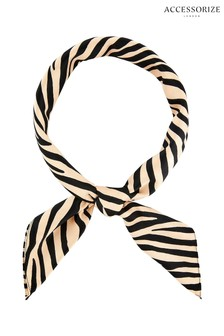 Accessorize Gold Zebra Square Scarf