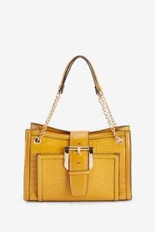 Buckle Detail Shoulder Bag