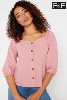 F&F Pink Melrose Non Print Tunic