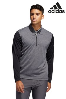 adidas Golf Black/Grey Lightweight 1/4 Zip Top