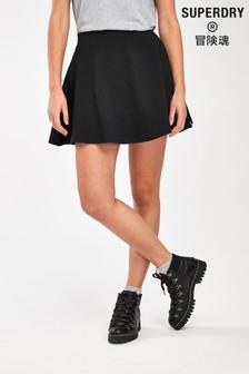 Superdry Black Skater Short Skirt