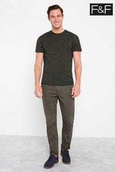 F&F Black Foulade Print T-Shirt