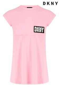 DKNY Pink Skater Dress