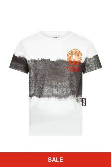 GCDS Mini Kids Black Cotton T-Shirt