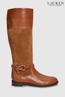 Lauren Ralph Lauren® Saddle Hermione Hohe Stiefel, hellbraun