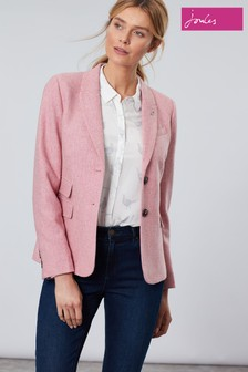 Joules Pink Wiscombe Tweed Jacket