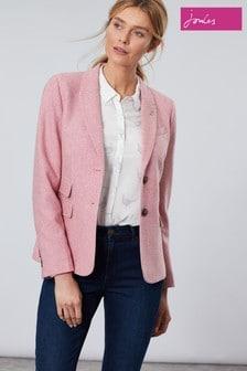Joules Pink Wiscombe Tweed Jacket