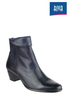 Riva Blue Armadillo Leather Ankle Boots