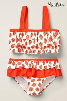 Boden Red Frilly Bikini Set
