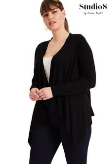 Studio 8 Black Freya Waterfall Cardigan