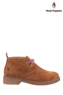 Hush Puppies Brown Marie Ankle Boots