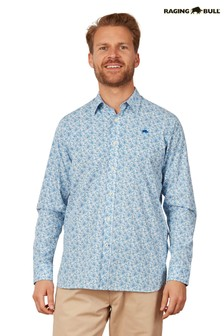 Raging Bull Blue Long Sleeve Ditsy Floral Shirt