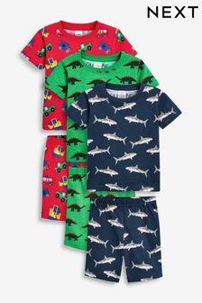 3 Pack Multi Print Short Pyjamas (9mths-8yrs)