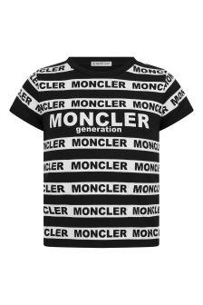 Moncler Enfant Girls Black & White Logo T-Shirt