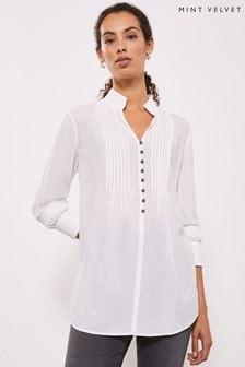 Mint Velvet 白色象牙白高領Rouleau T恤