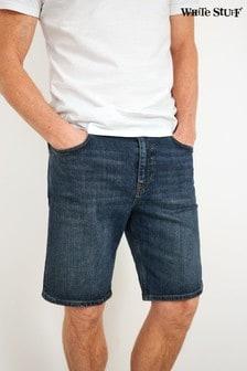 White Stuff Blue Davis Denim Shorts