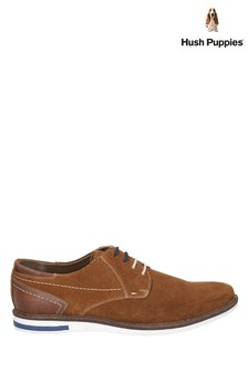 Hush Puppies Brown Frankie Lace-Up Shoes