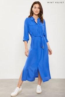 Mint Velvet Azure Belted Shirt Dress