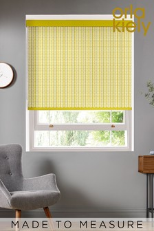 Tiny Stem Zest Yellow Made To Measure Roller Blind by Orla Kiely