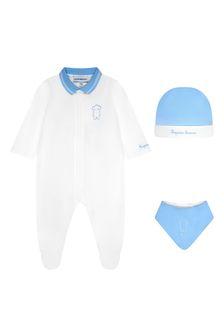 Emporio Armani Baby Boys Blue Gift Set