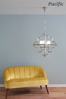 Zanetta Nickel Metal Four Shade Pendant by Pacific Lifestyle