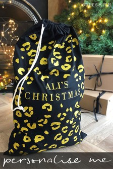 Personalised Glitter Leopard Print Sack by Solesmith