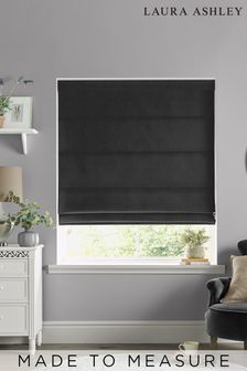 Laura Ashley Charcoal Swanson Made to Measure Roman Blind