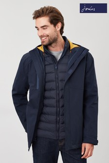 Joules Blue The Rockwell 3-In-1 Waterproof Jacket