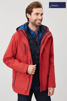 Joules Red The Rockwell 3-In-1 Waterproof Jacket