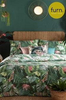Furn Green Amazonia Duvet Cover and Pillowcase Set