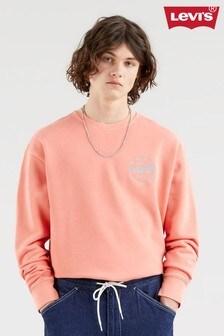 Levi's® Orange Modern Vintage Logo Crew Neck Sweater