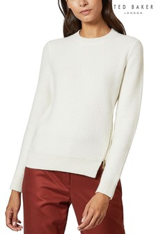 Ted Baker Ivory Kenala Textured Stitch Jumper