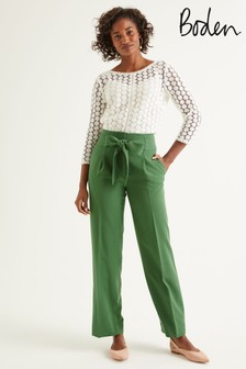 Boden Green Ketton Wide Leg Trousers