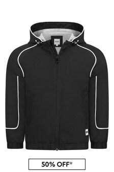 Boss Kidswear Boys Black Cotton Jacket