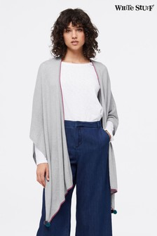 White Stuff Grey Penelope Wrap Knit